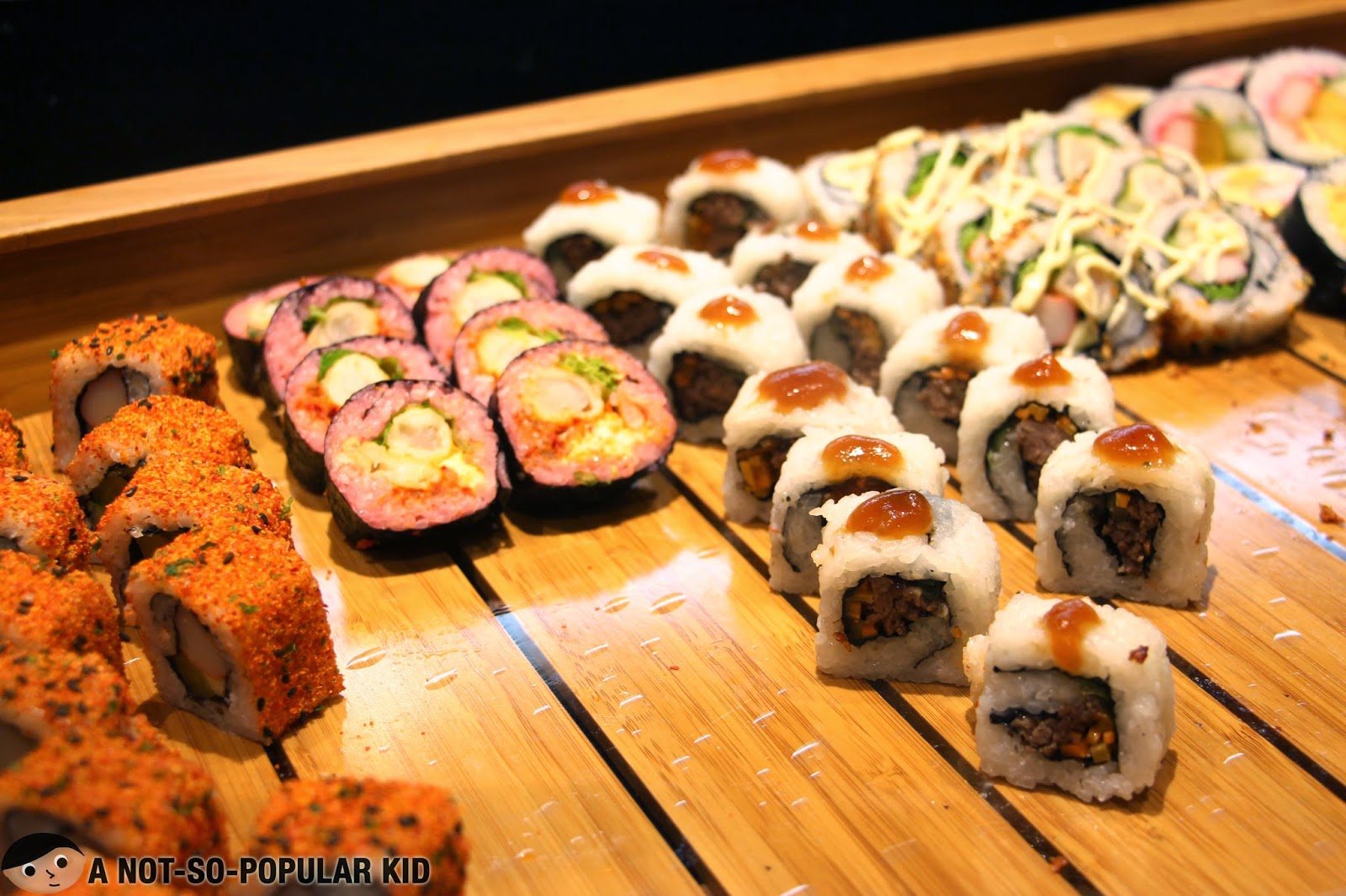 Colorful and tasty sushi of Vikings