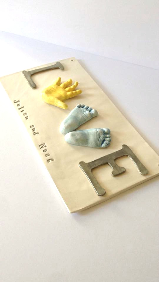 Thebabyhandprintcompany custom handprint love plaque for children be free to customize your special keepsake of your child or children love plaque with handprints of your little ones to cherish a lifetime is a popular negle Choice Image