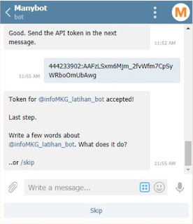 tutorial bot telegram cuaca dan iklim