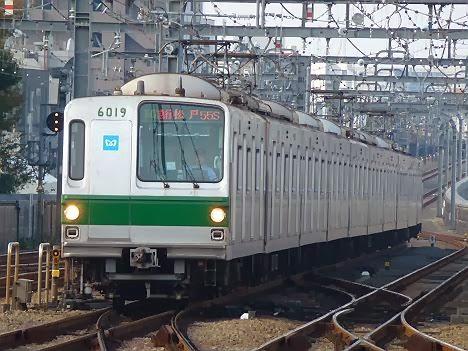 小田急線 千代田線直通 多摩急行 松戸行き 6000系