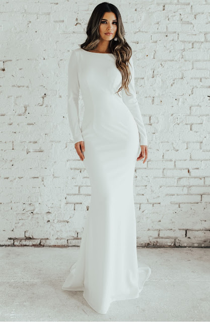 Wedding Soiree Blog by K'Mich, Philadelphia's premier resource for wedding planning and inspiration - white low cut back dress - ceremony dress idea