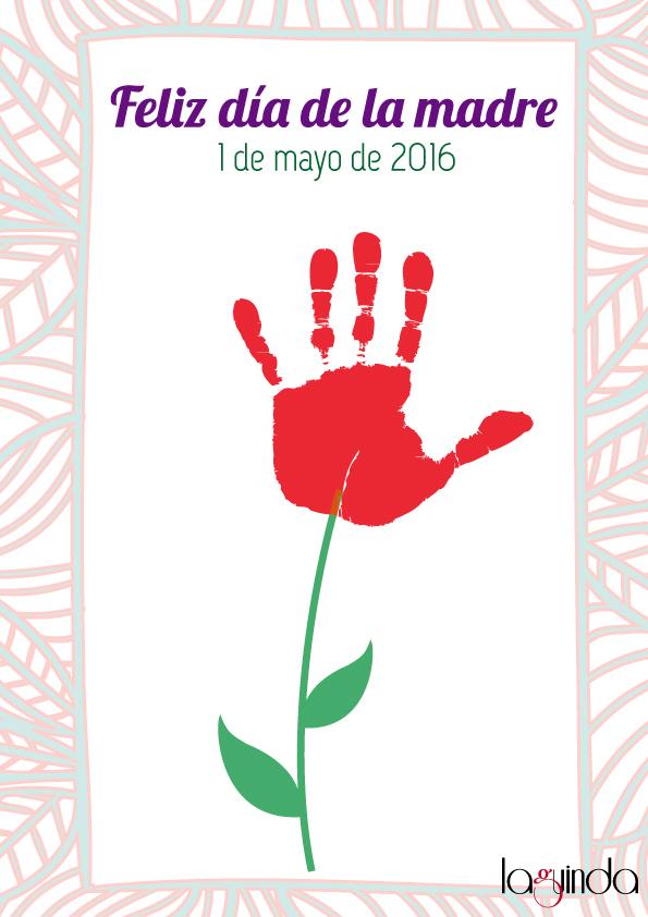platilla gratuita regalo día de la madre manualidades ramo flores manos