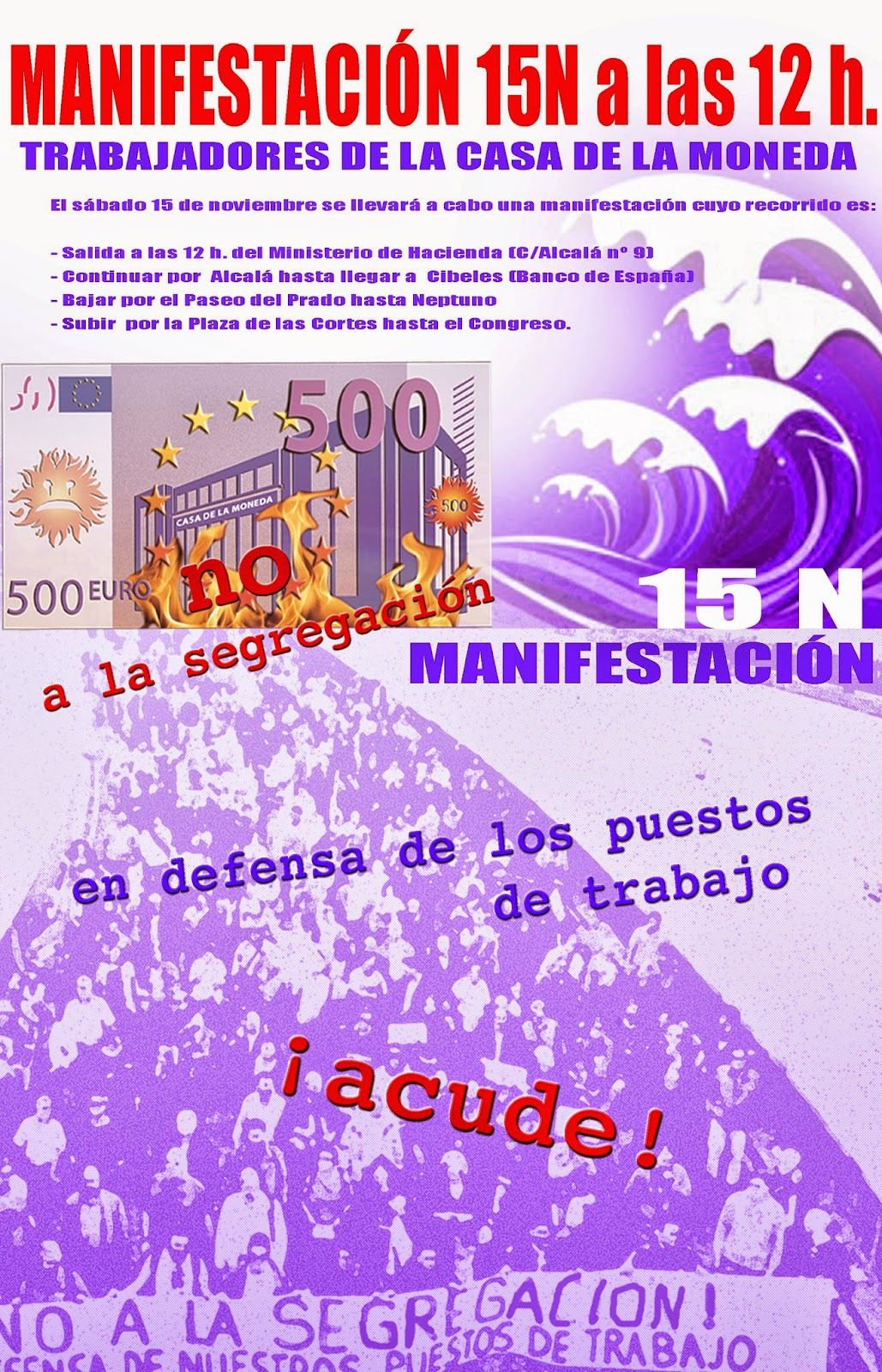 Ugt mara on manifestaci n contra la segregaci n de la - Casa de la moneda empleo ...