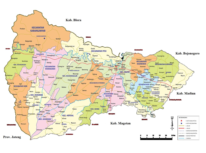 Peta Kabupaten Ngawi