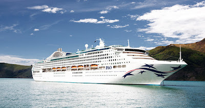 P&O Australia's Artists Rendering of the Pacific Explorer. ex Dawn Princess