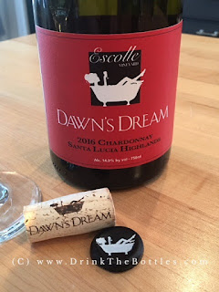 2016 Dawn's Dream Chardonnay Escolle Vineyard Label