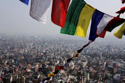 ネパール スワナンプナートより町を望む