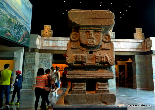 Deusa da Água de Teotihuacán exibida no Museu Nacional de Antropologia do México