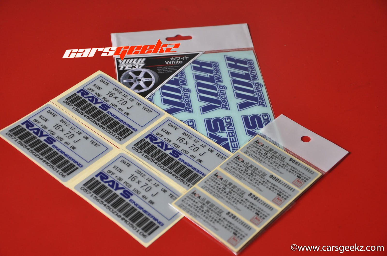 te37 volk racing sticker inner barrel