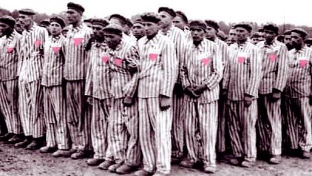 Prisioneros con triángulo rosa