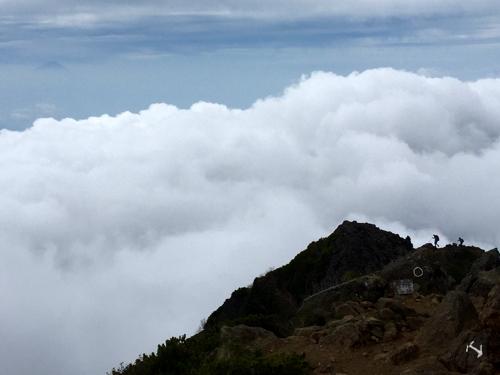 県界尾根か真教寺尾根と雲海と富士山