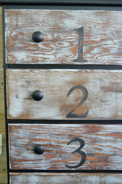 rustic dresser with black knobs - my creative days