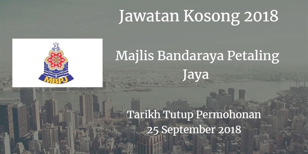 Jawatan Kosong MBPJ 25 September 2018