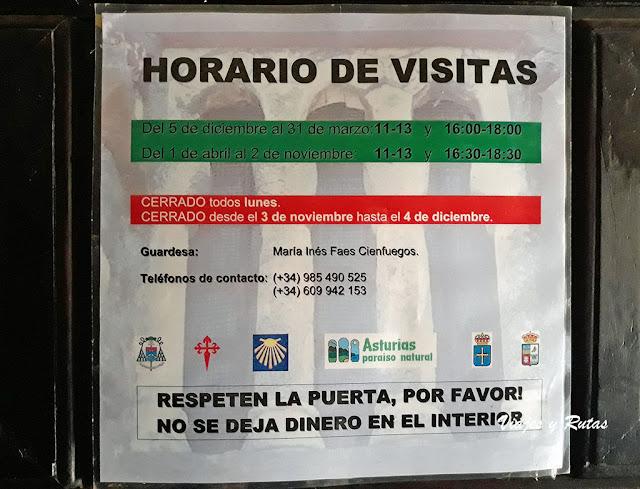 Horarios de Santa Cristina de Lena