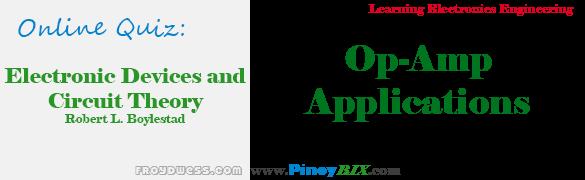 Practice Quiz in Op-Amp Applications