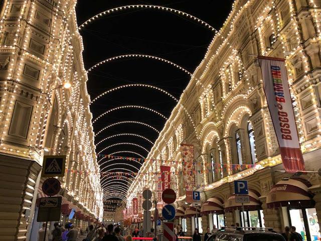 Luzes da noite de Moscovo
