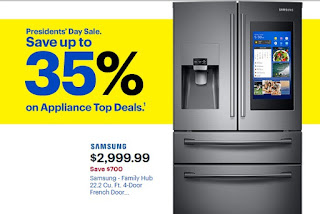Best Buy Presidents' Day sale save up to 35% on Appliance top deals