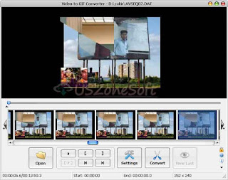 Video To GIF Converter- powerful video clip to animated GIF file converter software with adding special effects by cropping, flipping, resizing and color