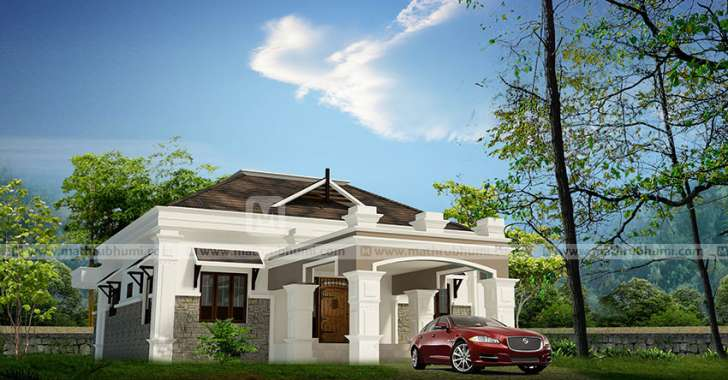 3 Bedroom Traditional Colonial Home For 20 Lakhs In 1307sqft Free Plan Free Kerala Home Plans