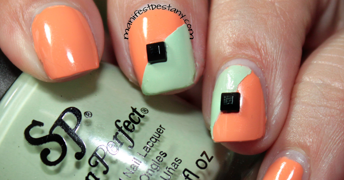 Nail Art with Salon Perfect Bellini and Mint Julep! - Confessions of a Sarcastic Mom