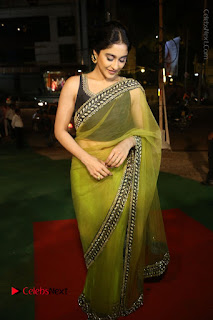 Actress Regina Stills in Green Saree at Vivaha Bhojanambu Restaurant Launch  0155.JPG