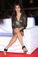 Pooja Hegde looks glamarous in deep neck sleevless short tight golden gown at Duvvada Jagannadham thank you meet function 091.JPG