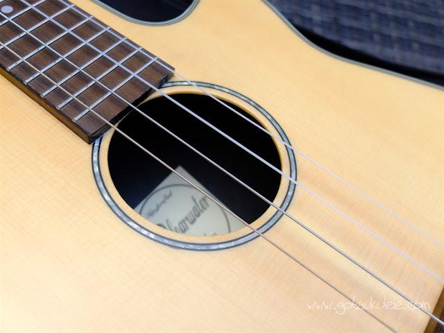 Clearwater roundback baritone ukulele sound hole