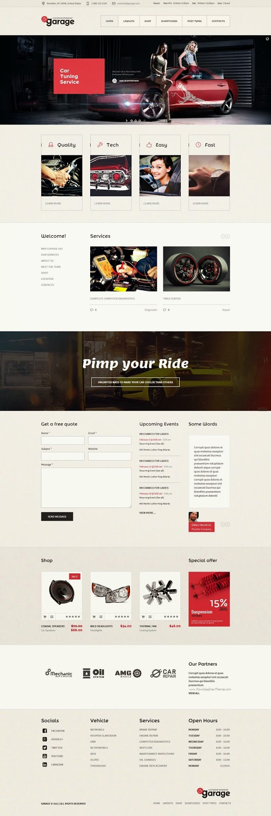Garage Auto Mechanic WordPress Theme