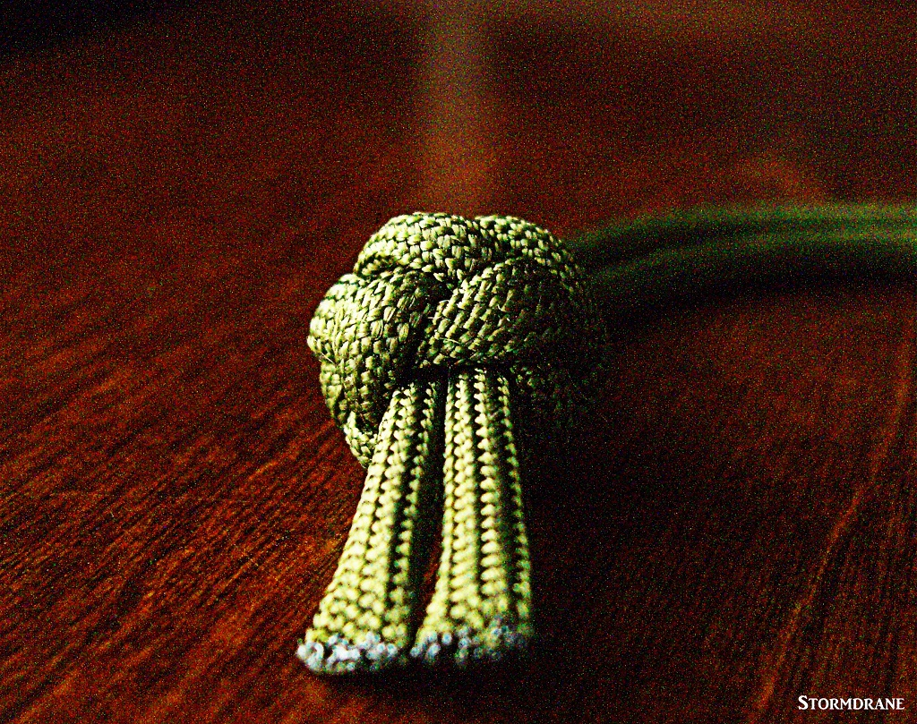 Stormdrane's Blog: A King's Crown Button Knot Paracord Wrist