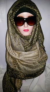 Jual Pashmina Kashmir Gradasi Leopard (Pasmina Kasmir Cashmere)