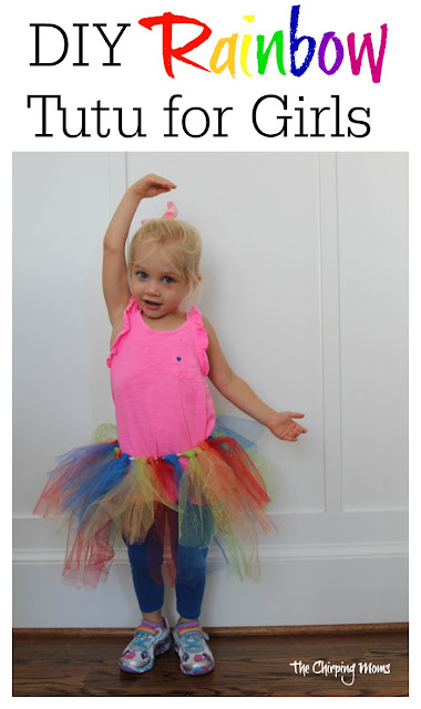 DIY Rainbow Tutu || The Chirping Moms