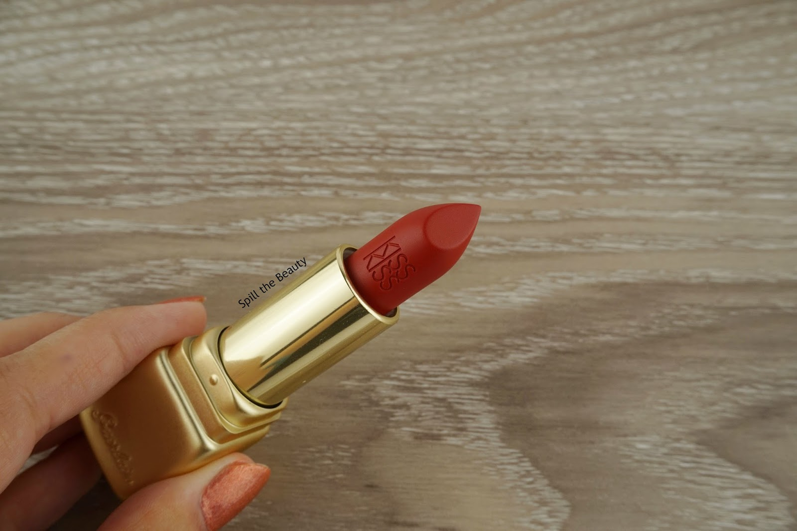 guerlain kiss kiss matte lipstick spicy burgundy swatches comparison dupe
