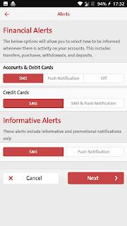 BB notifications settings