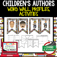 Children's Authors Profiles & Activity Pages (History) Digital Google Option, Word Wall