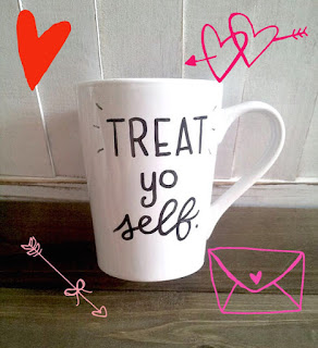 galentine's day mug treat yo self