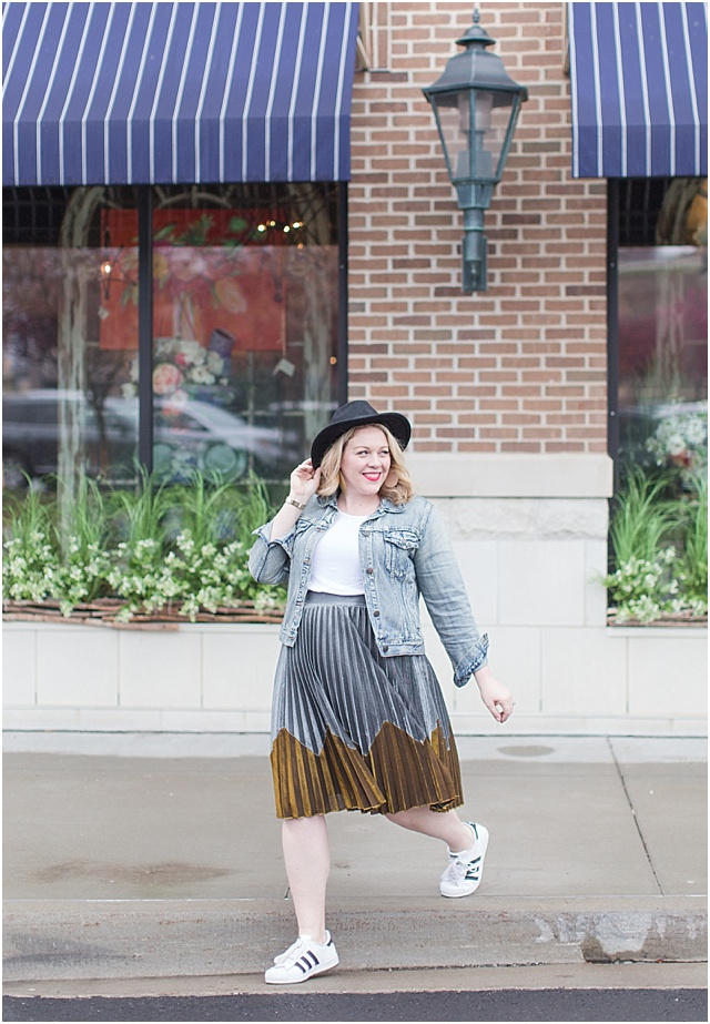 Metallic Skirt for a Casual outfit