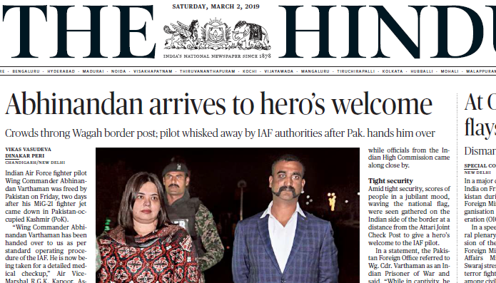 The Hindu ePaper Download 2nd March 2019