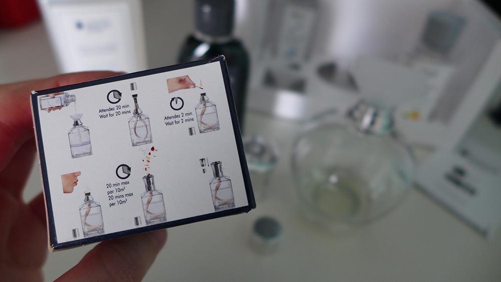 test et utilisation de la lampe berger, le purificateur d'air, notice d'utilisation