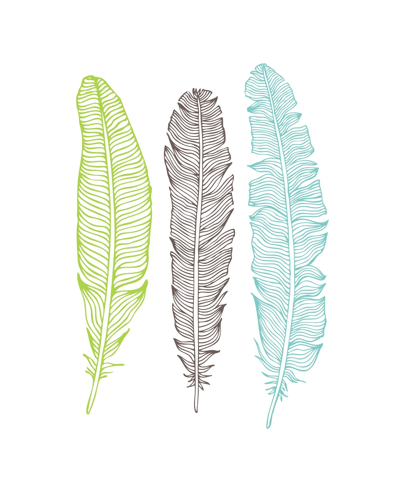 Nerdy image inside printable feathers