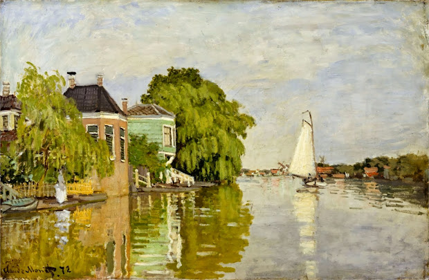 Claude Monet Building Paintings