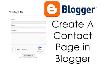 contact page create, blogger contact page