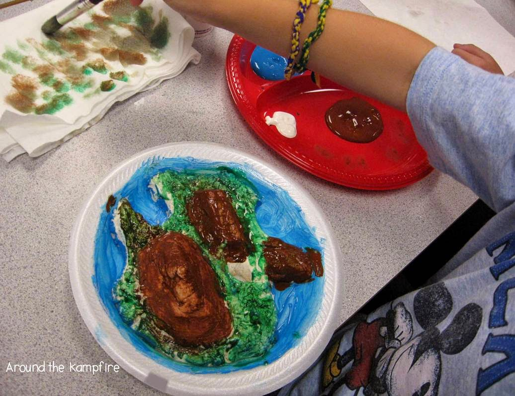 Landforms creative writing project~Building the landforms on imaginary islands.
