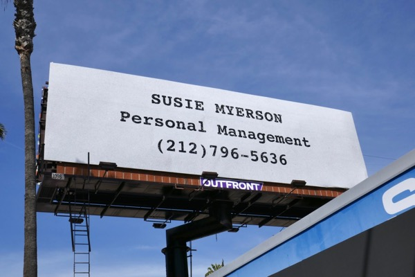 Mrs Maisel Susie Myerson Personal Management Emmy FYC billboard