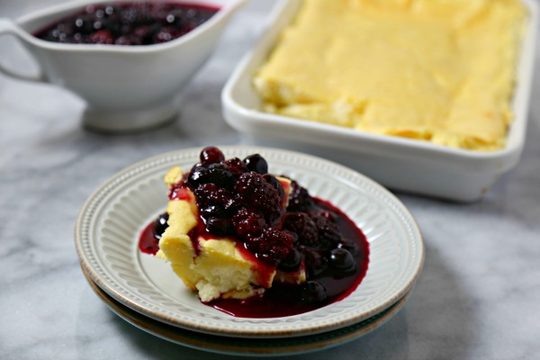 Lemon Baked Blintzes with Summer Berry Compote from Cooking in Stilettos