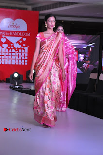 South Indian Celebrities Pos at Love For Handloom Collection Fashion Show  0018.jpg
