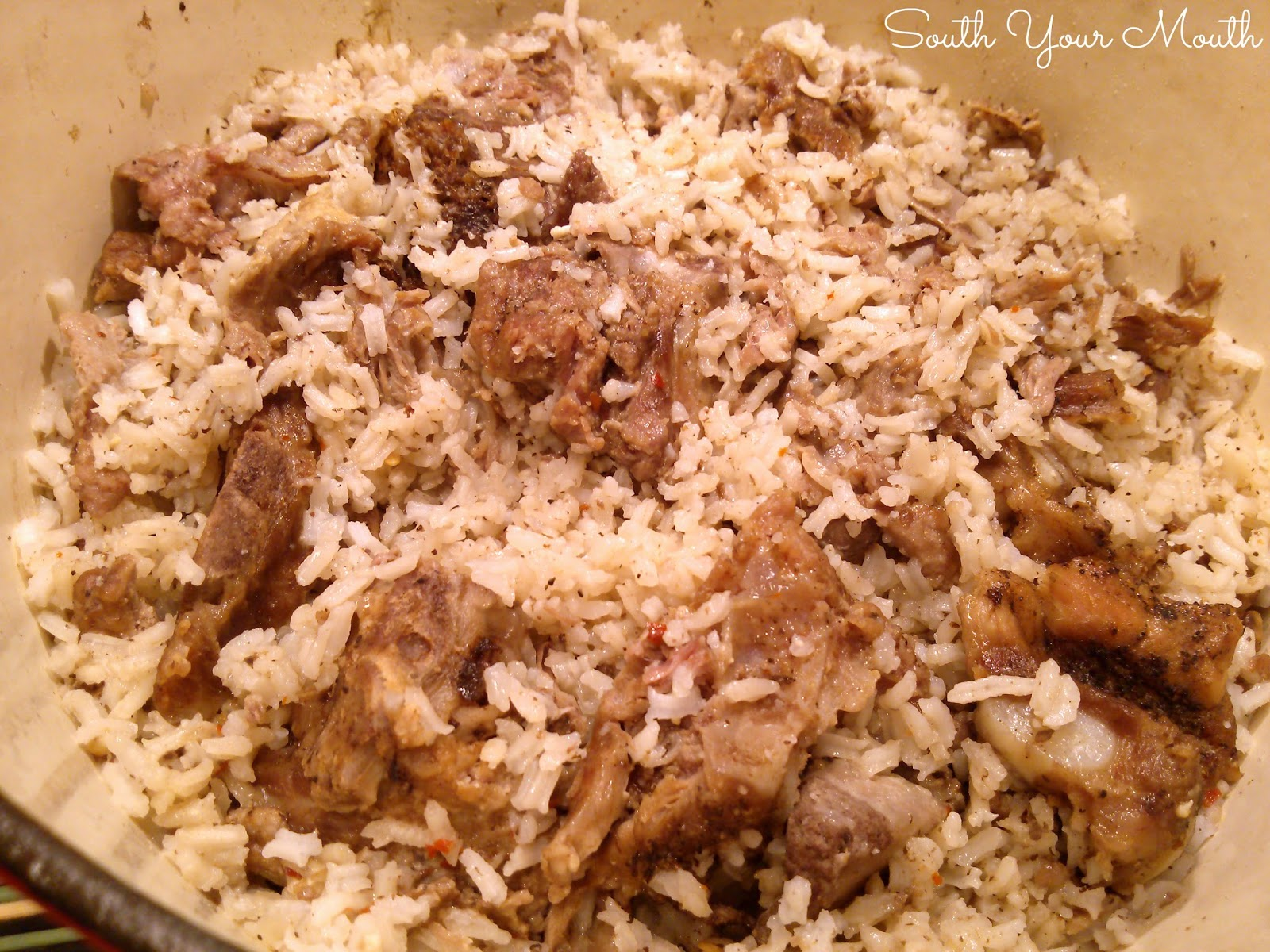 Neck Bones and Rice | Pork neck bones and rice is classic Southern comfort food.