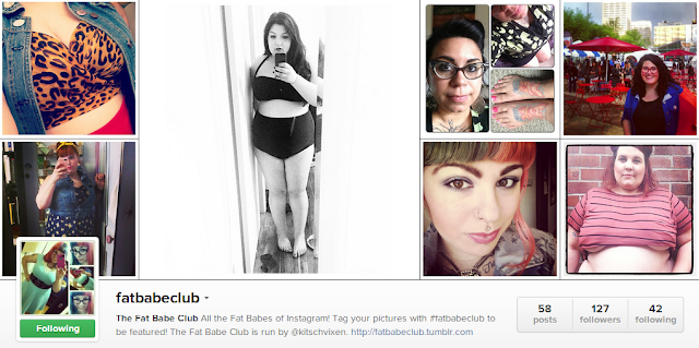 body positive, fat babe club, fat babes, fat positive, instagram, random thought thursday