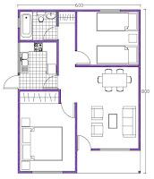 planos casas prefabricadas buin 48 mts