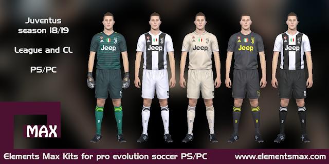 Juventus 18/19 pes kits