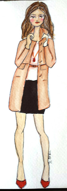 Sprinkle On Glitter Blog// Illustrated Capsule Wardrobe- Coat//Ann Taylor Loft Wool Coat- pencil skirt & heels